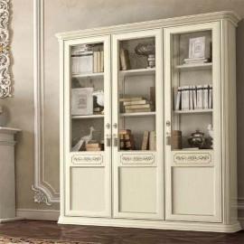Книжный шкаф Torriani Avorio 3дв. (двери дерево, полки дерево)