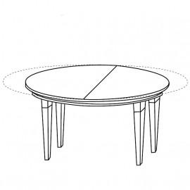 Стол круглый Treviso Ciliegio (101+35 см)