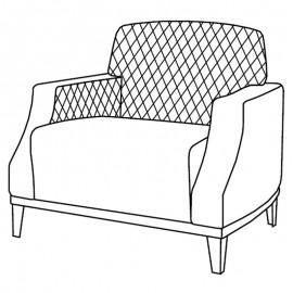 Кресло Ambra Pulsar (экокожа nabuk 12)