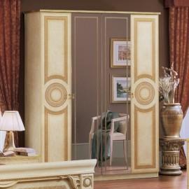 Шкаф Aida Avorio 4дв с зеркалами