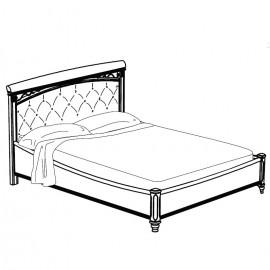 Кровать Treviso Frassino Capitone (экокожа NABUK col.12)