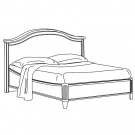 Кровать Nostalgia Bianco Gendarme без изножья