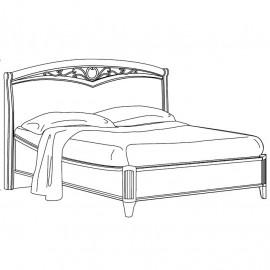 Кровать Nostalgia Bianco Curvo Freggio б/изножья