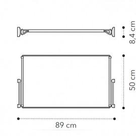 Телескопическая рама полного выдвижения д/2дв. модуля