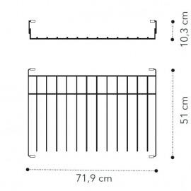 Выдвижная вешалка для брюк д/2дв. модуля