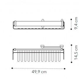Выдвижная вешалка для галстуков, ремней д/1-,2дв. модулей