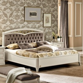 Кровать Nostalgia Bianco Curvo Freggio Capitonne б/изножья