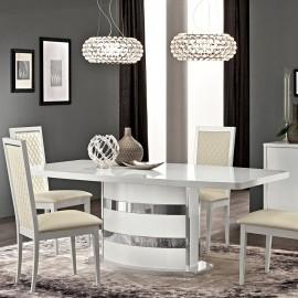 Стол обеденный Roma white (200+45 см)