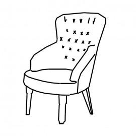 Кресло Giotto Noce Camelgroup