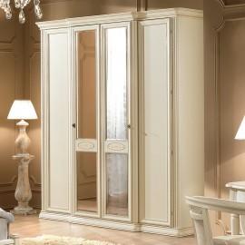 Шкаф Siena Ivory 4ств. с зеркалами