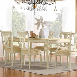 Стол Siena Avorio прямоугольный (200+45+45 см)
