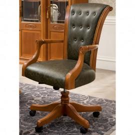 Кресло вращающееся Siena Ciliegio высокое на колесиках