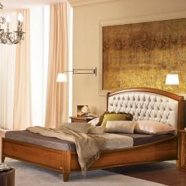 Кровать Nostalgia Curvo legno capitonne 160x200 (б/изножья)